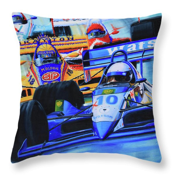 Formula 1 Race Throw Pillow by Hanne Lore Koehler