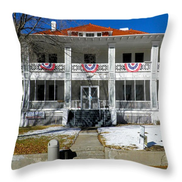 Fort Bayard Commandant's House Throw Pillow by Feva  Fotos