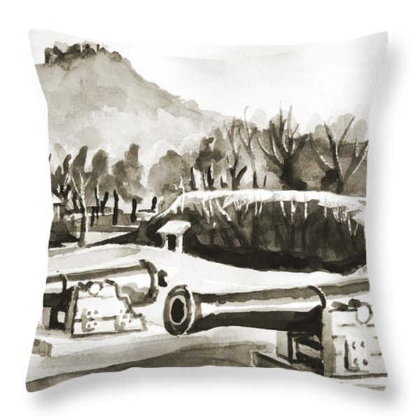 Fort Davidson Cannon IIi Throw Pillow by Kip DeVore