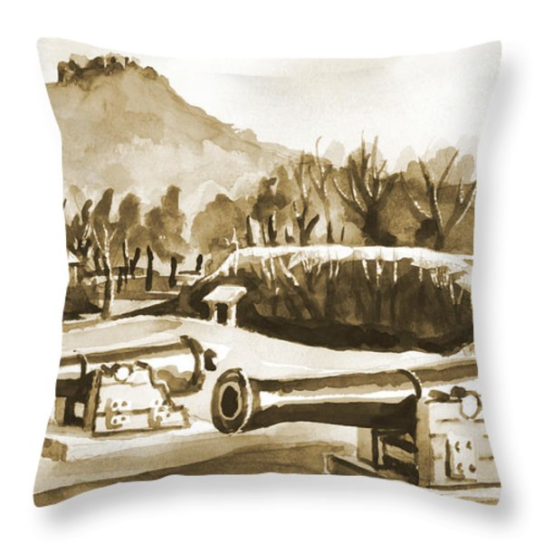 Fort Davidson Cannon Iv Throw Pillow by Kip DeVore