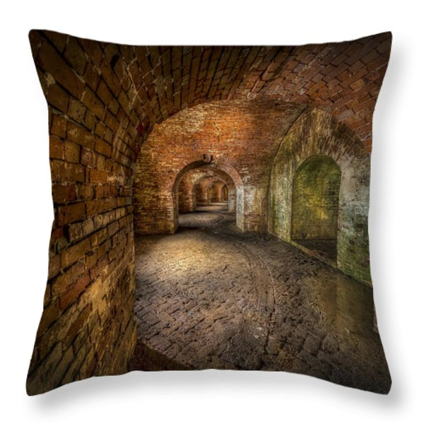 Fort Macomb Throw Pillow by David Morefield