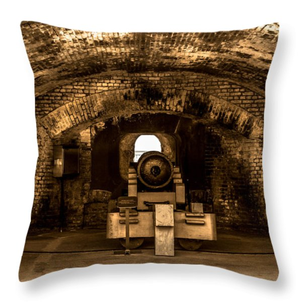 Fort Sumter Famous Cannon Throw Pillow by Optical Playground By MP Ray