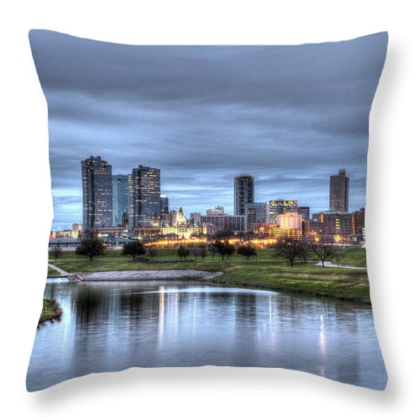 Fort Worth Color Throw Pillow by Jonathan Davison