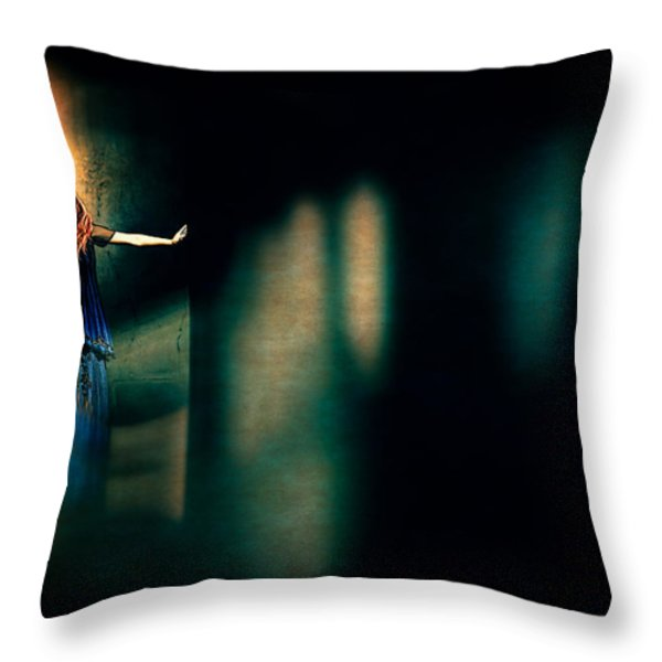 Fortune Teller Throw Pillow by Bob Orsillo