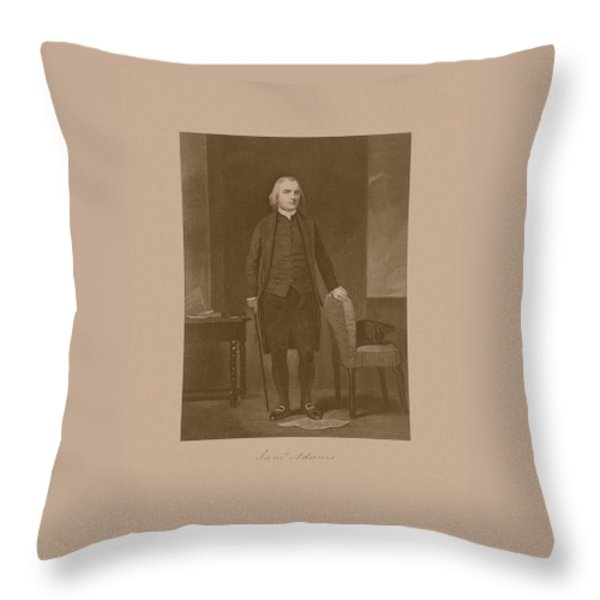 Founding Father Samuel Adams Throw Pillow by War Is Hell Store