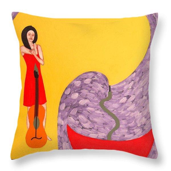 Fountain Of Creativity Throw Pillow by Patrick J Murphy