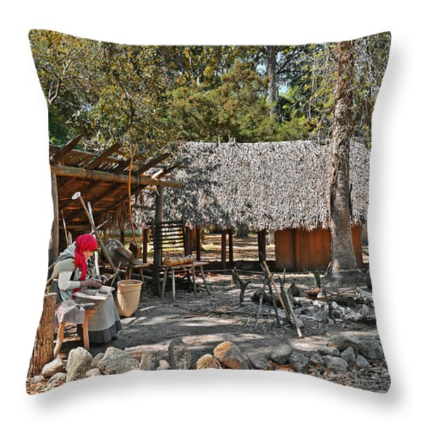 Fountain of Youth - Living History Throw Pillow by Christine Till