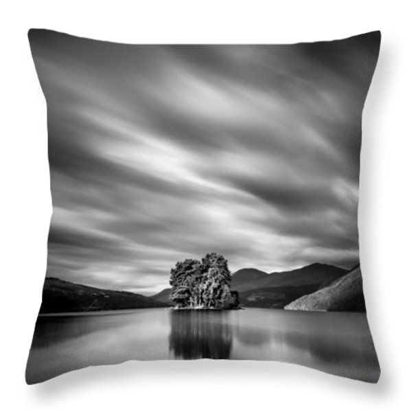 Four Rocks Throw Pillow by Dave Bowman