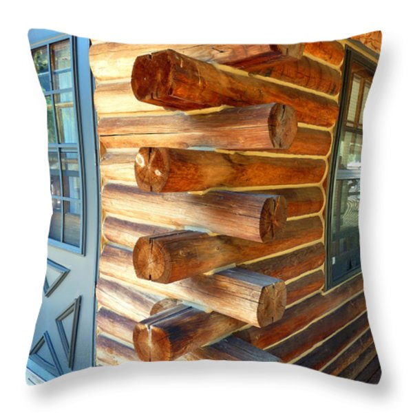 Foursquare Throw Pillow by Lauren Hunter