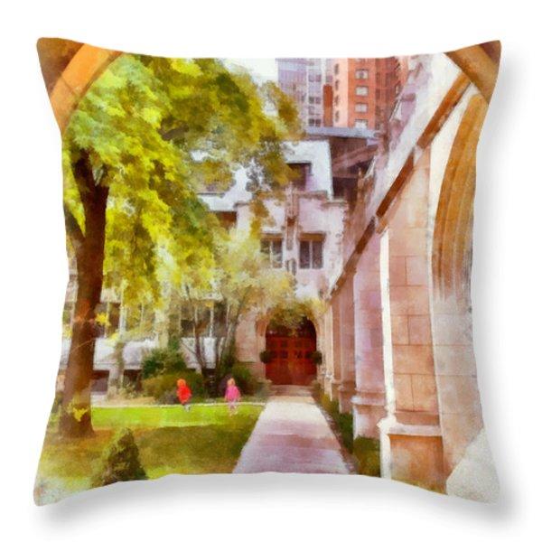 Fourth Presbyterian - A Chicago sanctuary Throw Pillow by Christine Till