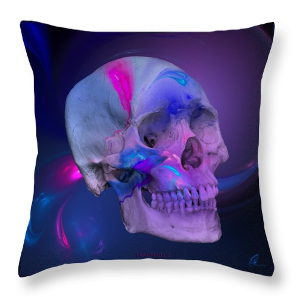 Fracskull 2 Throw Pillow by Chris Thomas