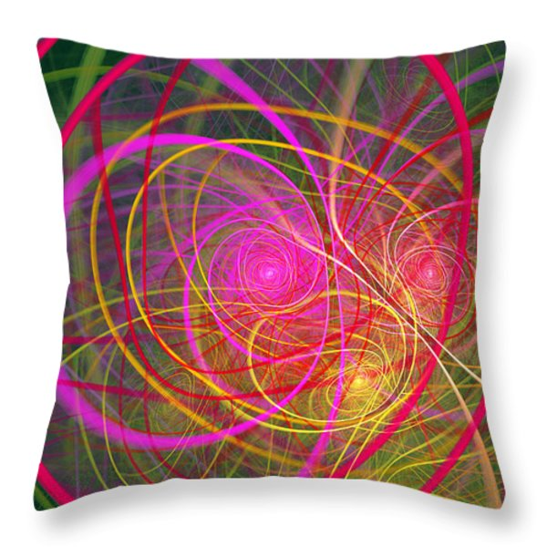 Fractal - Abstract - Loopy Doopy Throw Pillow by Mike Savad