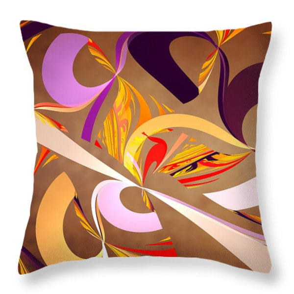 Fractal - Abstract - Space Time Throw Pillow by Mike Savad