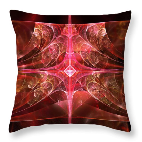 Fractal - Abstract - The essecence of simplicity Throw Pillow by Mike Savad