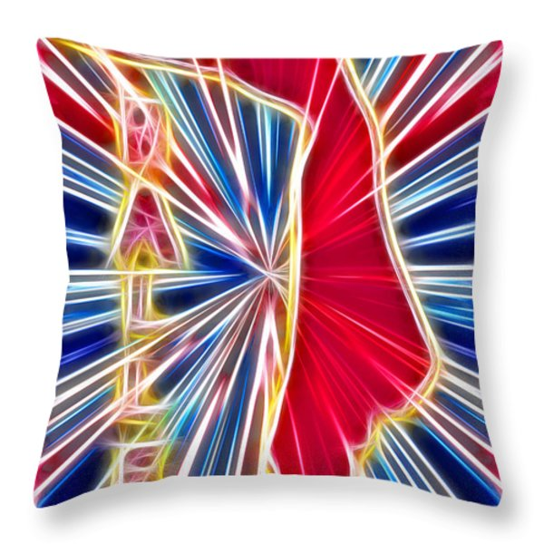 Fractal Ballet Throw Pillow by David G Paul