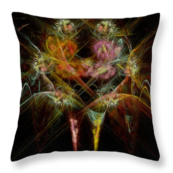 Fractal - Christ - Angels Embrace Throw Pillow by Mike Savad