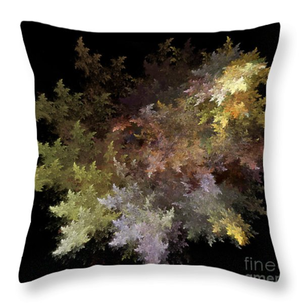 Fractal Flames Throw Pillow by Scott Camazine