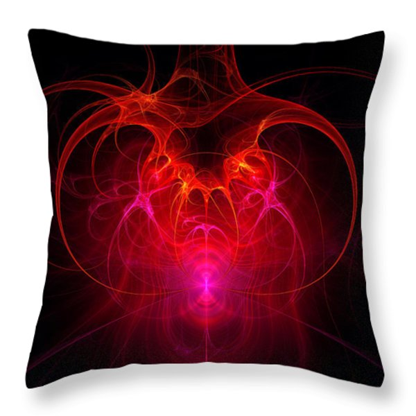 Fractal - Science - The neural network Throw Pillow by Mike Savad