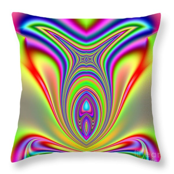 Fractal Sunfish Throw Pillow by Rose Santuci-Sofranko