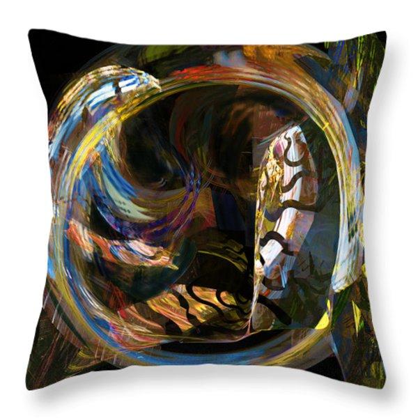 Fractals - Fish Tank Throw Pillow by Susan Savad