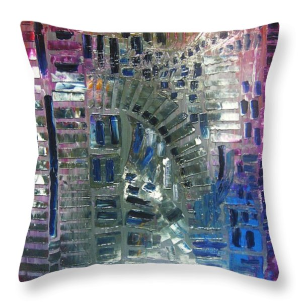 fracture Throw Pillow by Michael Kulick
