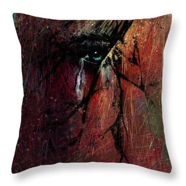 Fracture Throw Pillow by Rachel Christine Nowicki