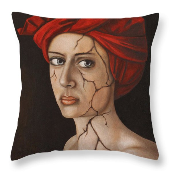 Fractured Identity Edit 1 Throw Pillow by Leah Saulnier The Painting Maniac