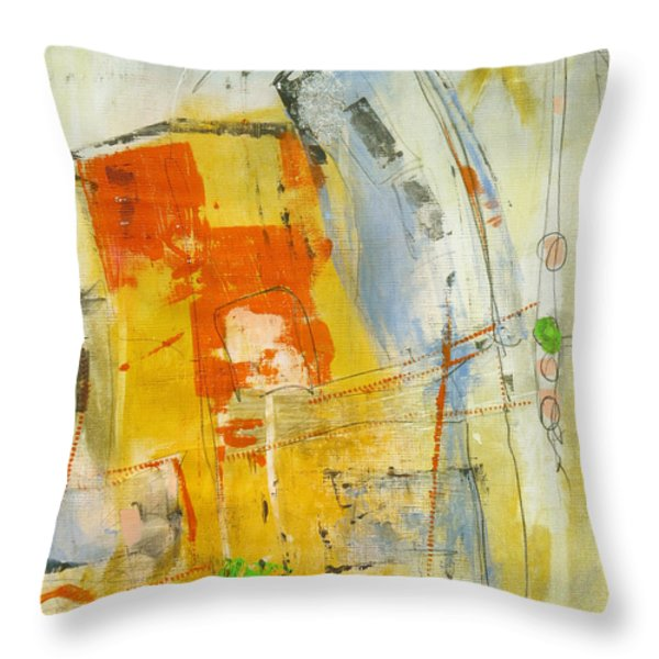 Fragile Throw Pillow by Katie Black
