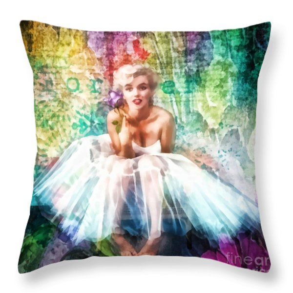Fragile Throw Pillow by Mo T