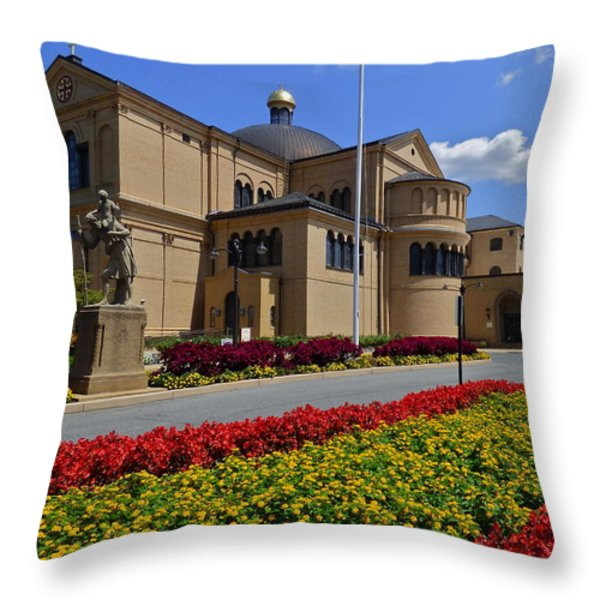 Franciscan Monastery In Washington Dc Throw Pillow by Jean Doepkens Wright