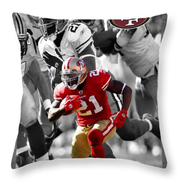 FRANK GORE 49ERS Throw Pillow by Joe Hamilton