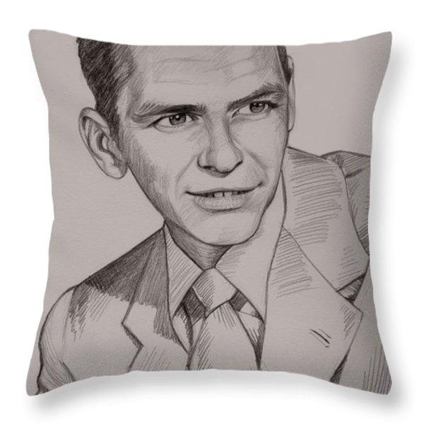 Frank Sinatra Throw Pillow by Jennifer Hotai