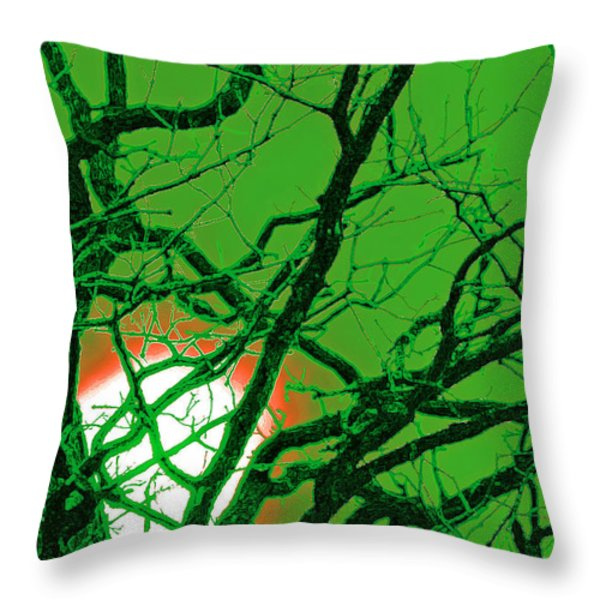 Frankenstein Moon Throw Pillow by First Star Art