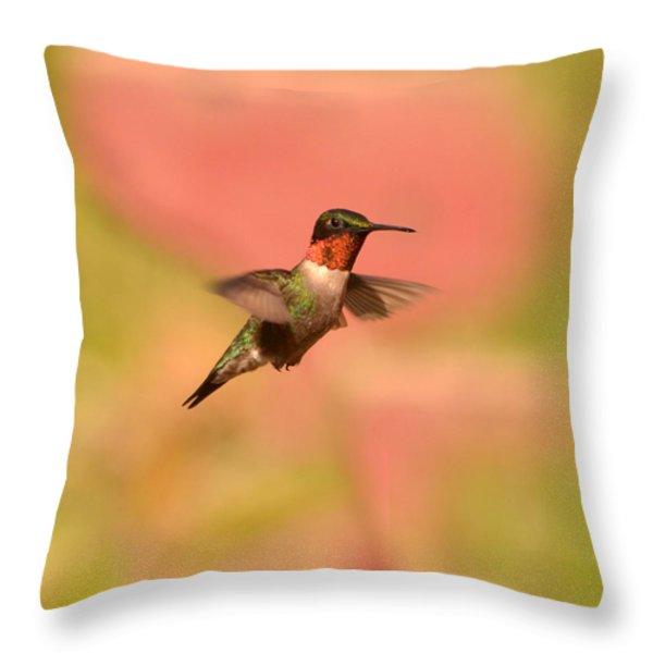 Free As A Bird Throw Pillow by Lori Tambakis