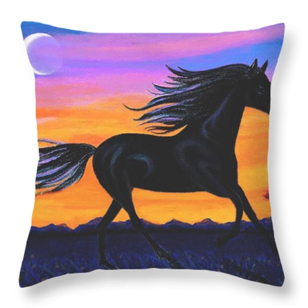 Free As The Wind Throw Pillow by SophiaArt Gallery