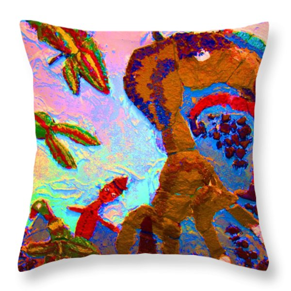 Free souls Throw Pillow by Else Margrethe Widerberg