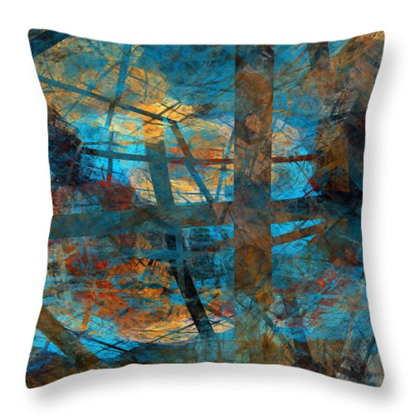 Free Your Mind  Throw Pillow by Menega Sabidussi