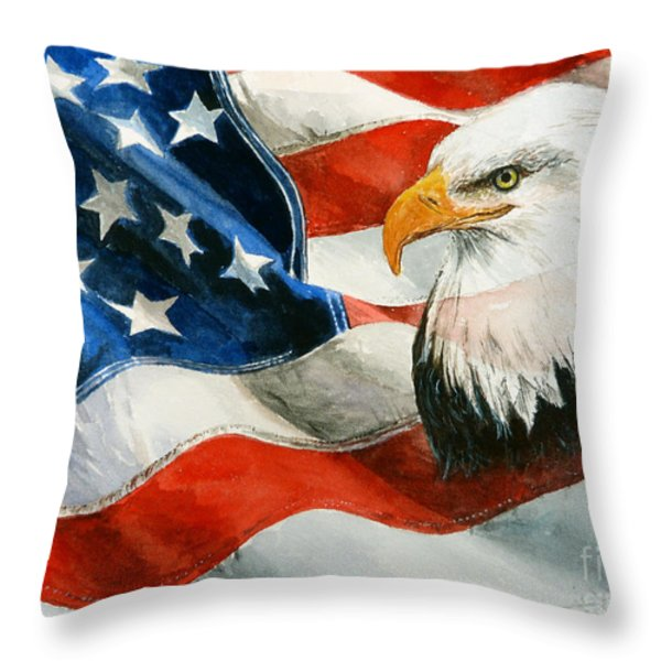 Freedom Throw Pillow by Andrew Read