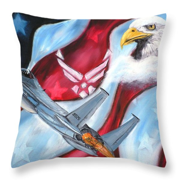 Freedom Eagles Throw Pillow by Dan Harshman