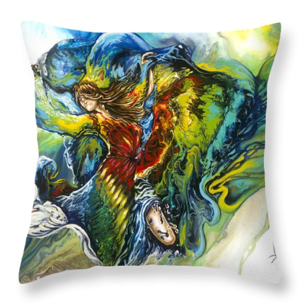 Freedom Throw Pillow by Karina Llergo Salto
