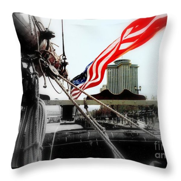 Freedom Sails Throw Pillow by Michael Hoard