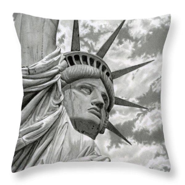 Freedom Throw Pillow by Sarah Batalka