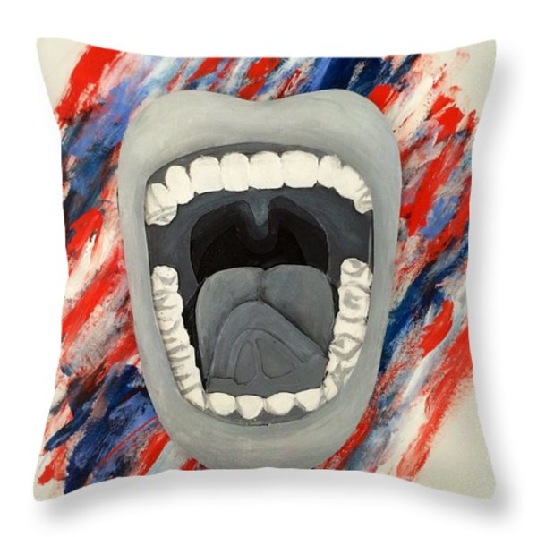 Americas Voice Throw Pillow by Scott French