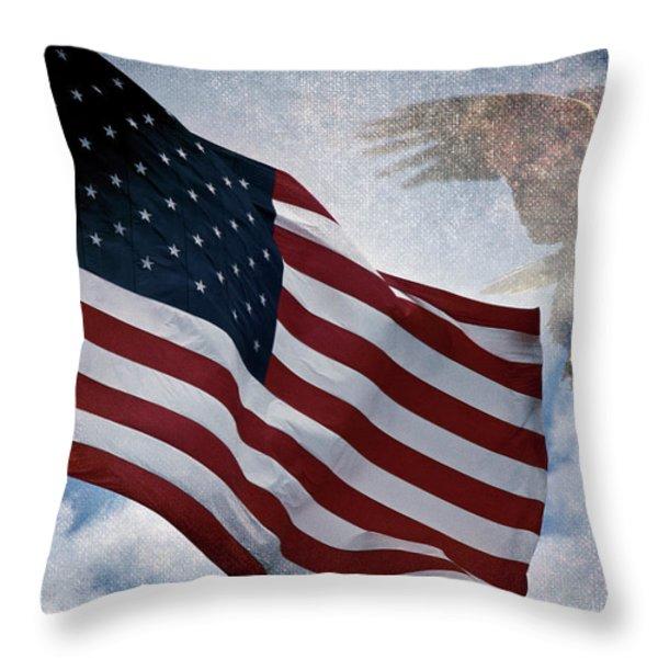 Freedom Throw Pillow by Scott Pellegrin