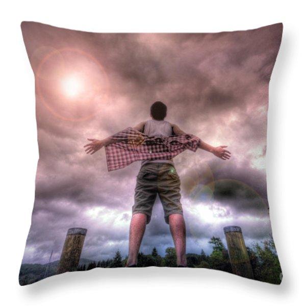 Freedom Throw Pillow by Yhun Suarez