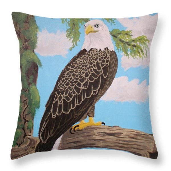 Freedom's Pride Throw Pillow by Vicki Maheu