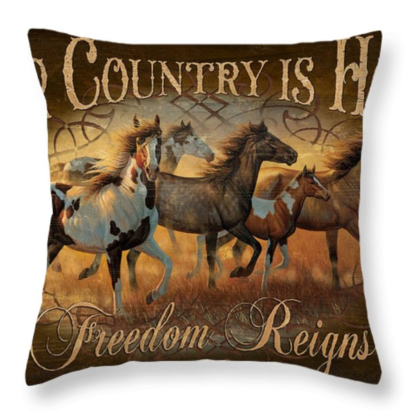 Freedon Reigns Throw Pillow by JQ Licensing