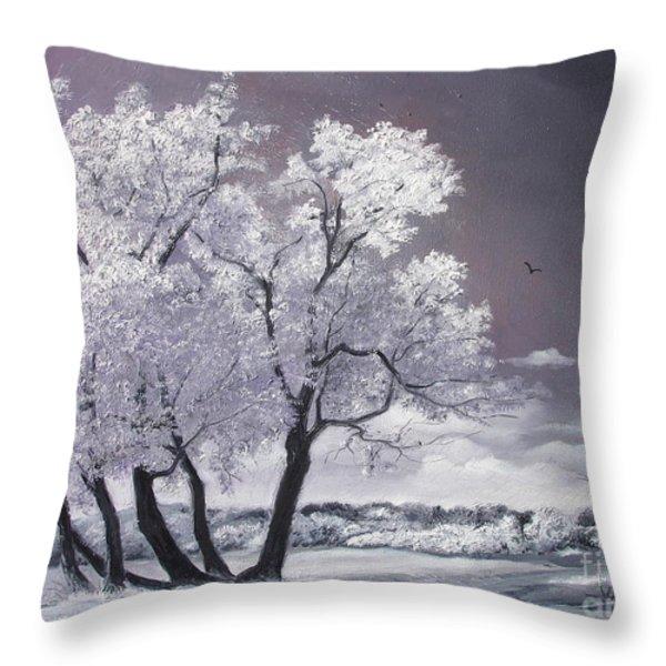 Freeze Throw Pillow by Sorin Apostolescu