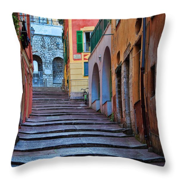 French Alley Throw Pillow by Inge Johnsson