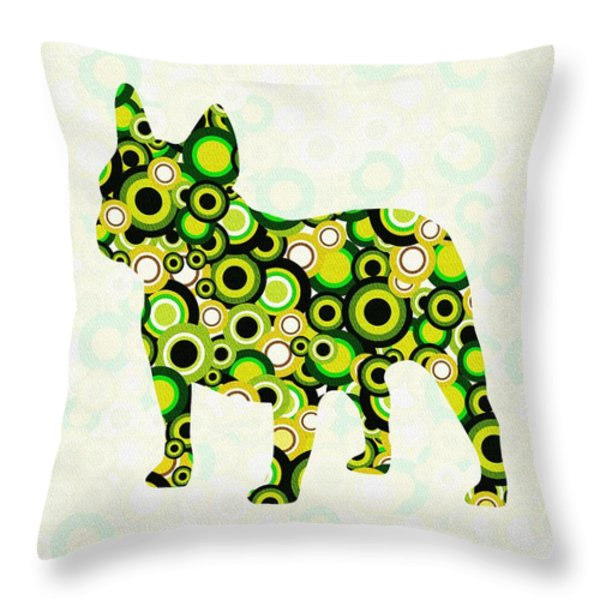French Bulldog - Animal Art Throw Pillow by Anastasiya Malakhova